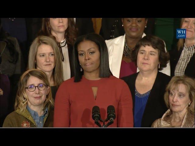 Michelle Obama's Final Public Speech As First Lady - Full Speech
