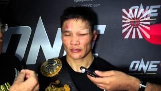 One FC Jadambaa post fight interview after Def Koji Oishi