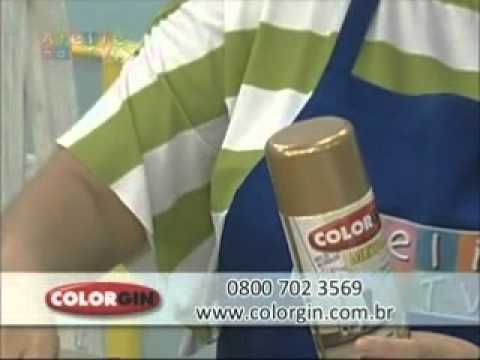 Colorgin no Ateliê na TV Flores de PET reciclado pintadas com Spray Colorgin