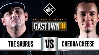 KOTD - Rap Battle - The Saurus vs Chedda Cheese | #GSTN2
