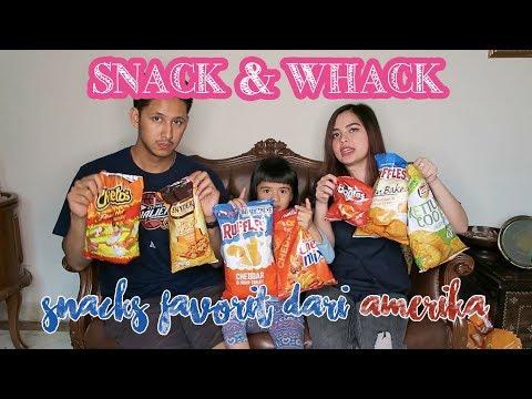 SNACK & WHACK with TASYA, RANDI, and SHIRA: Cobain snacks dari Amerika!