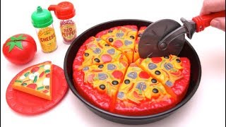 Toy Pizza Microwave Playset Learn Fruits & Vegetables with Toys for Kids