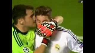 Casillas and Sergio Ramos celebrating la Decima