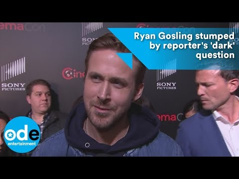 Download Ryan Gosling stumped by reporter's 'dark' question