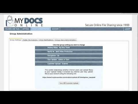 Secure File Uploads using your public Upload Link