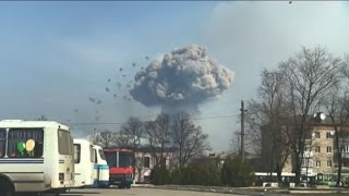 Ukraine struggles to contain arms depot fire, blames