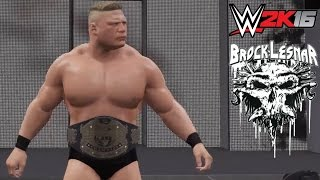 WWE 2K16 Brock Lesnar Ruthless Aggression Era 2002-04 without sword Tattoo! (Superstar Studio PS4)