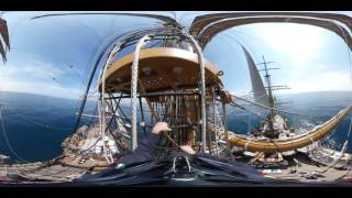 Visione a 360° della Nave Amerigo Vespucci