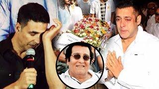 Salman Khan & Akshay Kumar GETS EMOTIONAL At Vinod Khanna