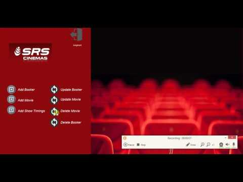 SRS Movie Ticket Booking Application