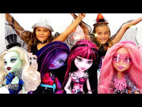 Monster High bebekleri koleksyonu tanıtımı ve bebek giydirme oyunları. Kızı süsleme oyunu