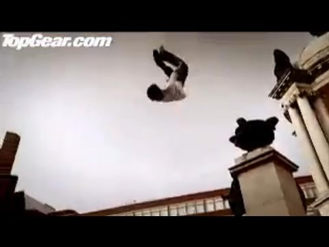 Peugeot 207 vs Parkour Free Runners Top Gear BBC