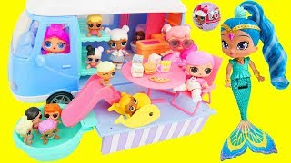 Don't Wake LOL Surprise Dolls Shimmer and Shine Game Camping Van Color Changing Fizz Fizzy Bomb!