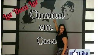 DIY - Decoração  Parede com tela de cinema - Lar Doca Lar