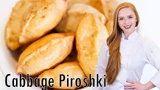 How to Make Traditional Russian Piroshki with Braised Cabbage Filling