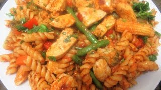 Chicken Pasta Recipes Chicken And Vegetable Pasta Recipe Macaroni With Chicken Recipe مکرونی با مرغ