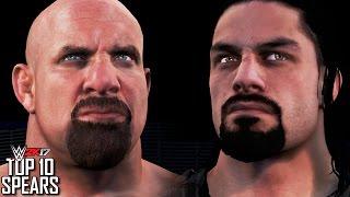 WWE 2K17 - TOP 10 SPEARS (Ft. Goldberg, Roman Reigns, Edge & More)