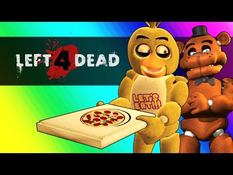 Five Nights At Freddy's Vs. Minecraft! (Left 4 Dead 2 Funny Moments and Mods)