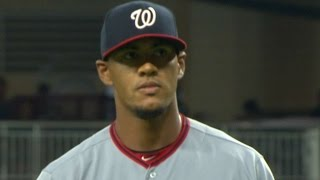 WSH@ATL: Ross strikes out seven in his season debut