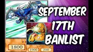 NEW YUGIOH BANLIST SEPTEMBER 17, 2018
