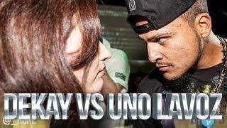 DEKAY VS UNO LAVOZ   Don't Flop Rap Battle