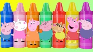 Pig peppa giant crayins with figures inside