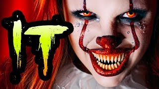 IT PENNYWISE GLAM HALLOWEEN MAKEUP TUTORIAL