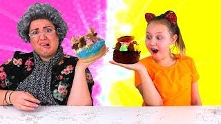 TWIN TELEPATHY DONUT CHALLENGE!! Ruby Rube VS Granny