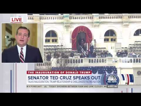 Sen. Ted Cruz on The Today Show Jan. 20 2017