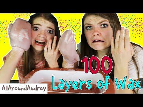 100 Layers Of Wax Challenge HUGE HANDS AllAroundAudrey