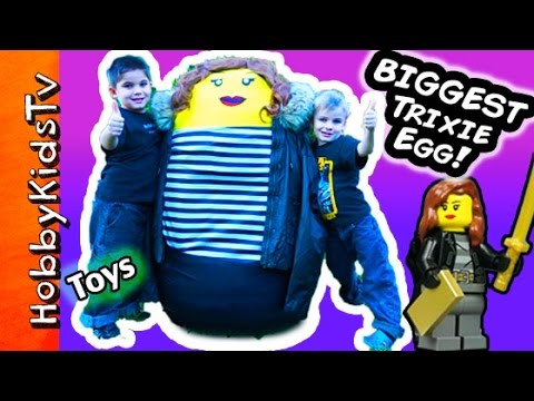 watch Worlds BIGGEST Trixie Surprise LEGO Egg! Nerf TOYS + Police Arrest by HobbyKidsTV