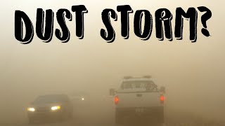 SUDDEN DUST STORM ON THE ROAD IN POLAND (burza piaskowa na S17)