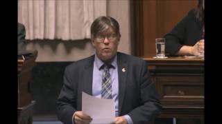 Ian Wishart recognizes the Portage & District Hospital Foundation