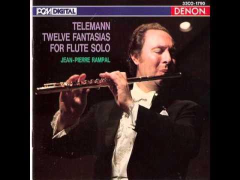 TELEMANN - Twelve Fantasias For Flute Solo 6/12 - Flute: J.P. Rampal (LP 1972)