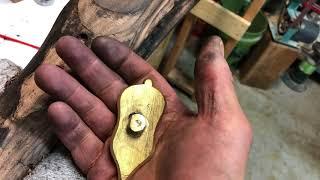 Wall gun #10 Inletting the thumb plate