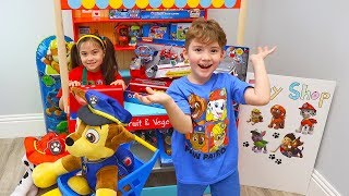 Pretend Play Shopping for New Paw Patrol Toys at a Toy Store with Chase Pup!