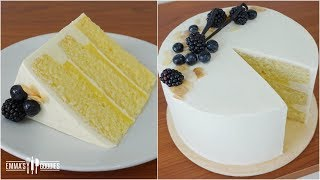 Italian Vanilla Cake Recipe ( Vanilla Pastry Cream Cake & Pastry Cream Recipe)
