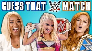 WWE Superstars React To Guess That Match Challenge