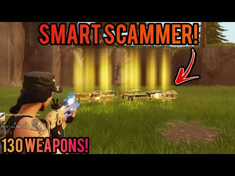 Smart Scammer Loses 6 130 Guns Scammer Gets Scammed Fortnite Save The World
