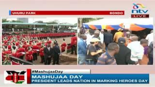 Raila Odinga arrives in Bondo set to hold a parallel Mashuja Day celebrations