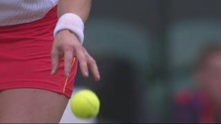 Clijsters  (BEL) v Sharapova (RUS) Women's Tennis Quarter-Final Replay - London 2012 Olympics