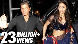 Shahrukh Khan's HOT Daughter Suhana At Bachchan's Diwali Party 2016