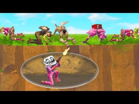 Invisible Troll Terrorises Random Players Fortnite WTF Troll & Funny Moments 34