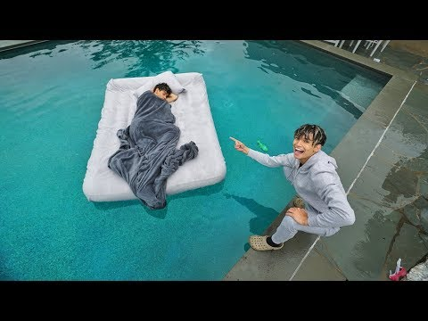 TWIN BROTHER WAKES UP IN SWIMMING POOL PRANK