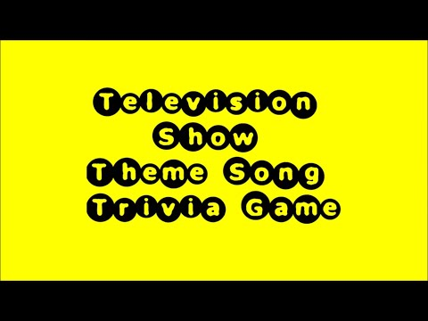 Television Theme Song Trivia Game 1 50 Songs