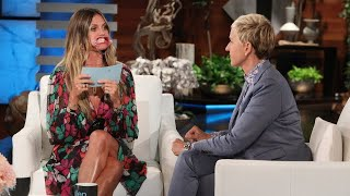 Heidi Klum Plays 'Speak Out'