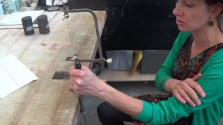 Demo: 1Sawing with the Jeweler's Saw