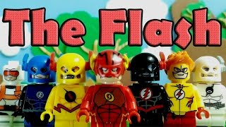 DC - Super Heroes - Flash - Reverse Flash - Zoom - KidFlash Lego Knockoff Minifigure By XINH