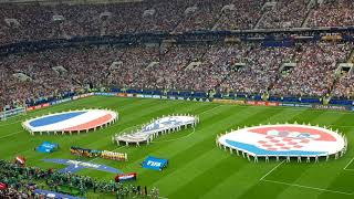 France vs. Croatia. World cup 2018 final. Russia 2018 moscow. National Anthems.