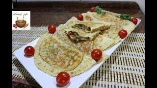 فطائر تركية في المقلاة بعجينة وحشوة رائعة بدون فرن/وجبة عشاء او للسحور /رمضان 2018